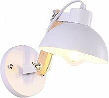 Anclk Innen Wandlampe Holz Industrie Weiß