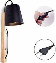 Anclk Nachttischlampe Mit Schalter Holz