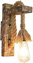 Anclk Vintage Massivholz Wandlampe Retro