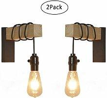 Anclk Wandlampe Holz Mit Schwenkbar Schalter Innen
