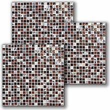 Ancoree Mosaik Fliesenaufkleber-Abnehmbare Fliese