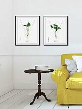 andas Bild Pflanze, mit Rahmen B/H/T: 50 cm x 60