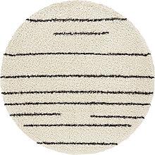 andas Hochflor-Teppich Fria, rund, 35 mm Höhe,