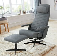 andas TV-Sessel Thrum, inklusive Hocker und