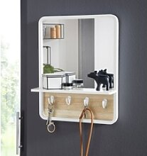 andas Wandspiegel Drammen, mit Ablage und 4