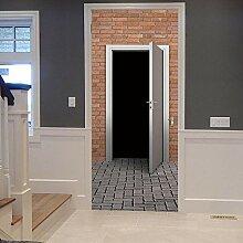 ANDD Außentür 3D Wohnzimmer Fototapete