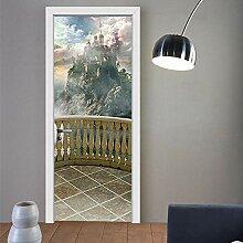 ANDD Balkonblick 3D Wohnzimmer Fototapete