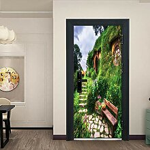 ANDD Hobbit Lodge 3D Wohnzimmer Fototapete
