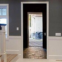 ANDD Tür 3D Wohnzimmer Fototapete Wandbilder