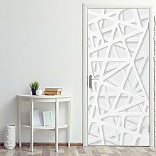 ANDD Weiße Geometrie 3D Wohnzimmer Fototapete