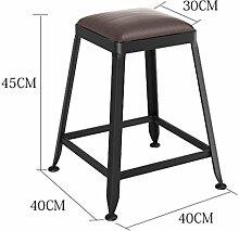 ANDE Bar Stuhl, Home Bar Stuhl Bar Hocker Stuhl Hohe Hocker Massivholz Eisen Moderne Einfache Bar Outdoor Esszimmer Ultra Hohe Ausdauer H: 45/65 / 75cmx40cm Originalität ( größe : 45 cm )