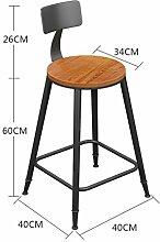 ANDE Bügeleisen Massivholz Bar Hocker Bar Stuhl, Hocker Restaurant Stuhl Empfang Hochstuhl Stuhl Stuhl Stuhl Stuhl Stuhl Moderne Einfache Rundschreiben Originalität ( Farbe : #2 , größe : 60 )