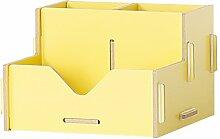 ANDE Büro-Schreibtisch-Aufbewahrungsbehälter-Büro-Versorgungsmaterialien Trümmer-Speicher-Regal-Regal-Behälter Originalität ( Farbe : Gelb )