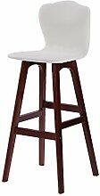 ANDE Einfache Massivholz Bar Hocker, High-back Stuhl Bar Counter Hochstuhl Café Laden Hocker Haushalt Freizeit Stuhl Restaurant Shop Kassierer Hochstuhl 65-74cm Originalität ( Farbe : #4 , größe : 74cm )