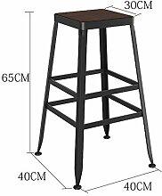 ANDE Massivholz Bar Stuhl, Bar Hocker Hocker Bar Stuhl Empfang Stuhl Haushalt Stuhl Hochstuhl Hochhocker Modern Einfach Eisen Originalität ( Farbe : #2 , größe : 65cm )