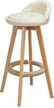 ANDE Massivholz Bar Stuhl, Hocker Bar Stuhl Empfang Stuhl Haushalt Stuhl Hohe Hocker Hochstuhl Retro Einfach Bar Barhocker 73cm Originalität ( Farbe : #4 )