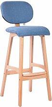 ANDE Massivholz-Bar-Stuhl, kreativer fester hölzerner hoher Schemel-Bar-Stuhl-Ausgangstuch Speisender Stuhl-Bar-Hocker-Restaurant-Dekoration-Stuhl Vorder Stuhl-Brown-hölzerner Farben-Stuhl-Rahmen 42 * 39 * 100cm kann gewaschen werden und gewaschen werden Originalität ( Farbe : A )
