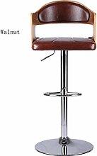 ANDE Massivholz Barhocker, kreativ drehen Bar Stuhl Bar Stuhl Restaurant Bar Lift Stuhl Massivholz Sessel Vordere Stuhl Hohe Hocker Höhe 60-82cm Walnuss Originalität ( Farbe : D )