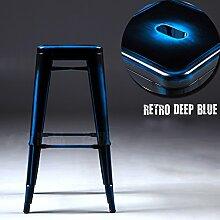 ANDE Retro Bar Stuhl, Creative Loft Front Desk High Hocker Bügeleisen Vorderseite Stuhl Bar Restaurant Hocker Freizeit und Unterhaltung Hocker sitzen hoch 61-76cm (mehrere Farben erhältlich) Originalität ( Farbe : A , größe : 41x41x61cm )
