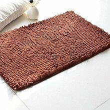 ANDEa Coral Fleece Teppich Wohnzimmer Schlafzimmer Schwimmdock Fenster Sofa Teppich Absorbent Mendian Mat Originalität ( Farbe : E , größe : 60*90CM )
