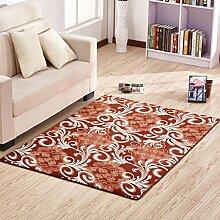 ANDEa Dicker Teppich Schlafzimmer Wohnzimmer Teppiche Couchtische Sofa Voll Teppich Nacht Border Fenster rechteckig Teppich Originalität ( Farbe : A , größe : 80*200CM )