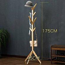 ANDEa Einfache Solide Holz Landing Coat Rack Wohnzimmer Schlafzimmer Kleiderbügel Storage Rack Originalität ( Farbe : B )