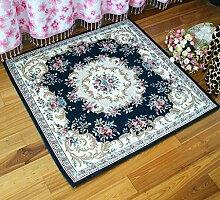 ANDEa Platz Teppich Wohnzimmer Schlafzimmer Computer Stuhl Teppich Gesichtsstuhl Originalität ( Farbe : A , größe : 120*120CM )