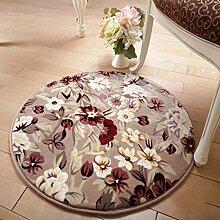 ANDEa Rund Teppich Computer Stuhl Drehstuhl Hocker Korb Korb Nacht Beleg Waschen Teppich Originalität ( Farbe : B , größe : 101CM )