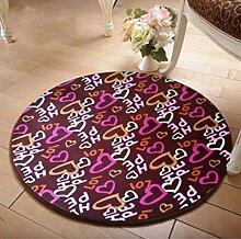 ANDEa Rund Teppich Computer Stuhl Drehstuhl Hocker Korb Korb Nacht Beleg Waschen Teppich Originalität ( Farbe : C , größe : 80cm )