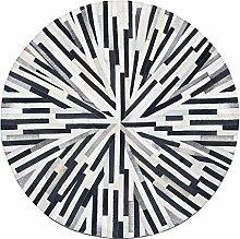 ANDEa Teppich Moderne Wohnzimmer Studie Schlafzimmer Runde Teppiche Originalität ( Farbe : A , größe : 60*60cm )