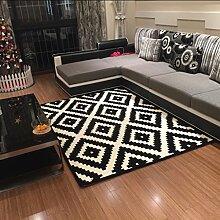 ANDEa Teppich Sofa Couchtisch Wohnzimmer Teppich Bedside Bedside Handgemachte Teppich Originalität ( Farbe : A , größe : 120*170CM )