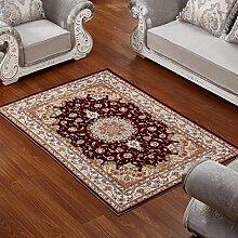 ANDEa Teppich Wohnzimmer Couchtisch Schlafzimmer Bettvorleger Blending American Garden Home Klassisch-Shop Originalität ( Farbe : B , größe : 80*160cm )