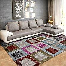 ANDEa Wohnzimmer Teppich Couchtisch rechteckig Teppich am Bett Bett Originalität ( Farbe : B , größe : 78*150CM )