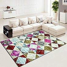 ANDEa Wohnzimmer Teppich Couchtisch rechteckig Teppich am Bett Bett Originalität ( Farbe : A , größe : 78*150CM )