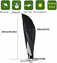 Anderlay Outdoor wasserdichte UV-geschützte Sonnenschirmabdeckung Staubdichte 265 x100 x50CM