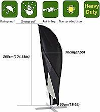 Anderlay Outdoor wasserdichte UV-geschützte Sonnenschirmabdeckung Staubdichte 265× 70 ×50CM