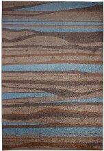 Andiamo 1100253 Teppich Chadler, Webteppich, 120 x 170 cm, beige / hellblau