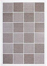 andiamo 750030 Webteppich Flachgewebe Cloe Teppich, Polypropylen, beige, 190.0 x 133.0 x 1.0 cm