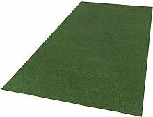Andiamo Kunstrasen Field, Rasenteppich mit Drainage-Noppen, Festmaß Teppich, Polypropylen, Grün, 400 x 200 x 0,4 cm