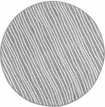 Andiamo Webteppich Bolognia Streifen-Muster Runder-Teppich Modern Polypropylen Öko-Tex 100, Grau-Streifen, 133 x 133