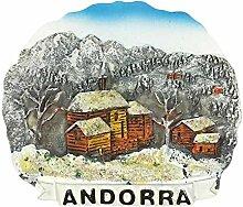 Andorra 3D Kühlschrank Magnet Reise Aufkleber