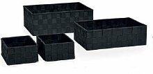 Andrea House ba64199-Boxen Set 4Rattansessel grau