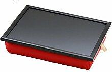 Andrew´s Knietablett Laptray mit Kissen Tablett für Laptop Uni Rot/Schwarz