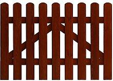 Andrewex Skaketenzaun 85 x 100 cm ( H x B cm ) Serie aus Holz , lasiert Teak Lattenzaun Vorgartenzaun Lattenumzäunung