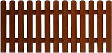Andrewex Skaketenzaun 85 x 180 cm ( H x B cm ) Serie aus Holz , lasiert Teak Lattenzaun Vorgartenzaun Lattenumzäunung