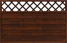 Andrewex Vorgartenzaun Hamburg 180 x 90 cm mit dekorativem Gitter Holzzaun