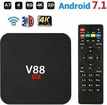 Android TV Box V88 Smart Set Top Box Android 7.1