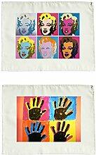 Andy Warhol Stoffservietten 2er Se