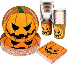 Aneco 122 Stück Halloween Party Supplies