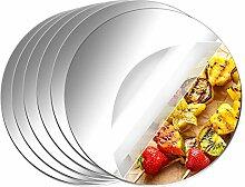 Aneco 6 Stück runde Spiegel aus Acryl, nicht